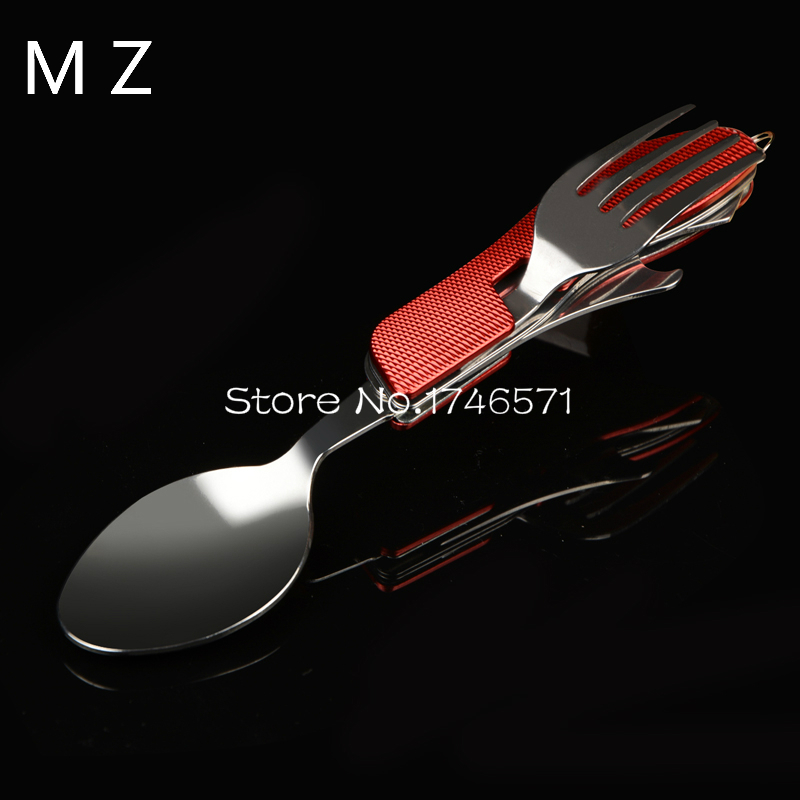 Outdoor camping supplies Multi-functional multi-purpose Spoon Fork knife tableware portable tools(China (Mainland))