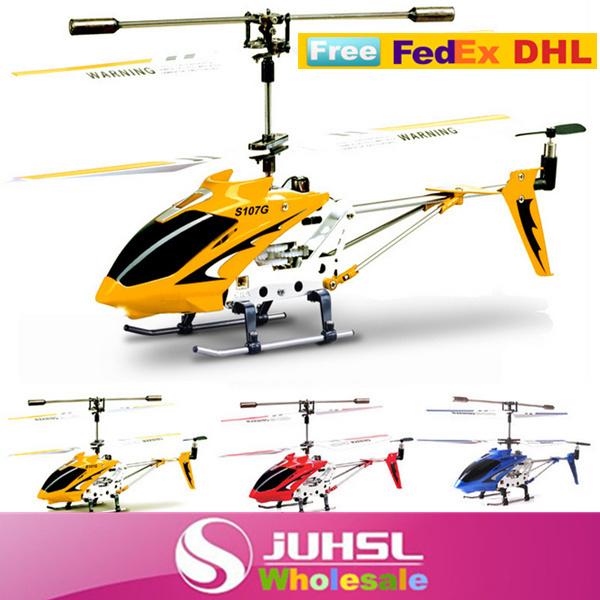 Free FedEx DHL,Original identify 22cm S107 mini metal 3.5CH radio remote control RC helicopter model toys with gyro,x10(China (Mainland))