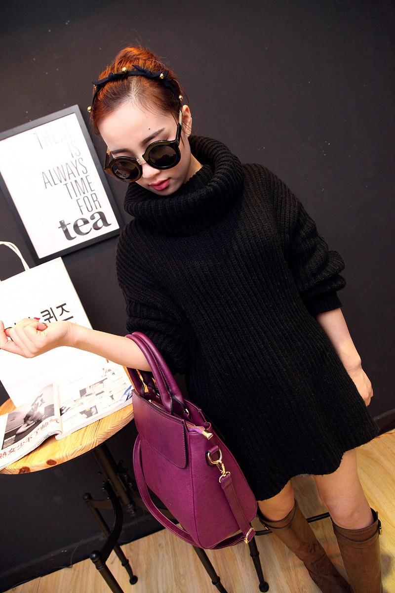 New 2015 Fashion Korea Style Women PU Leather Handbag Tote Bag One