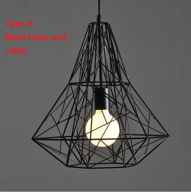 Modern wrought iron bird cage pendant lights american - Lampe loft industriel ...