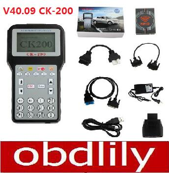 V40.09 CK-200 CK200 Auto Key Programmer Newest Generation CK200 Key Programmer CK 200 Add Models Than CK100 Key Programmer(China (Mainland))