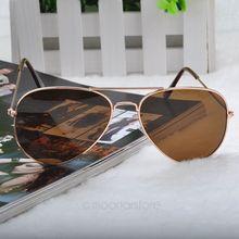 New 2015 Fashion Sunglasses Men Women Girls Cool Bat Mirror UV Protection Aviator Sun Glasses Eyewear