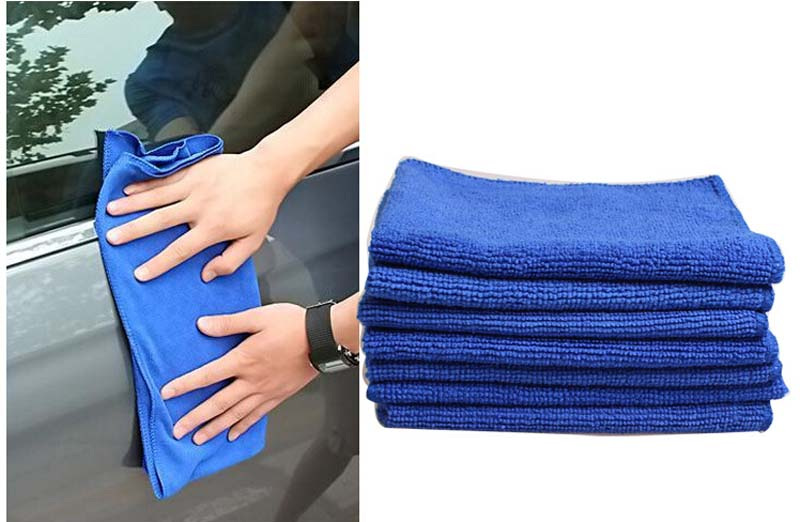 3pcs/lot Square Microfiber Towel Car Dry Cleaning Absorbant Cloth 30*30CM(China (Mainland))