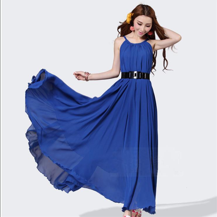 Baby Blue Dress Black Shoes