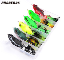 """New 6pc Frog Lures High Quality Fishing Bait 6 Colors Fishing Lures with BOX 6cm-2.36""""/0.46oz-13.18g Fishing Tackle Hard Bait(Hong Kong)"""