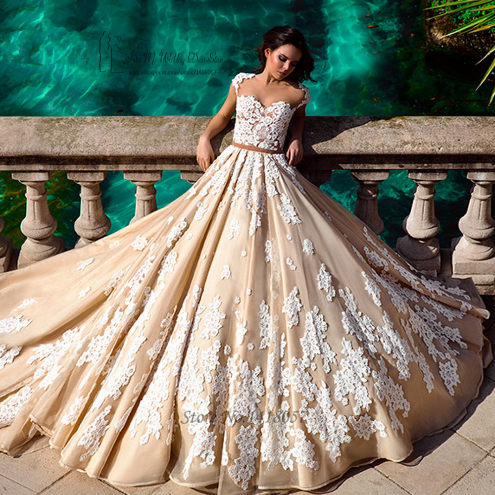Popular plus size gothic wedding gowns buy cheap plus size for Champagne ball gown wedding dresses