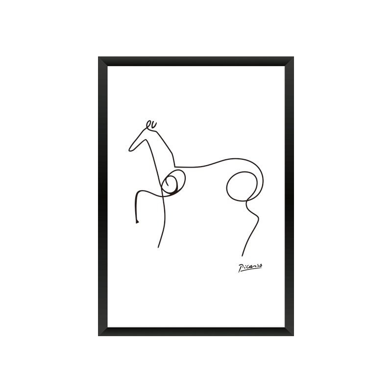 Picasso Penguin Horse Dog Canvas Painting A4 Abstract Animals Minimalist Wall Art Kids Room Office Home Decor frame not included