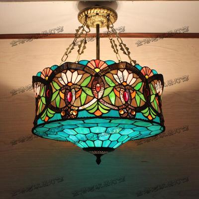 Mediterranean Garden Restaurant study bedroom lamp Tiffany Pendant Lights led(China (Mainland))