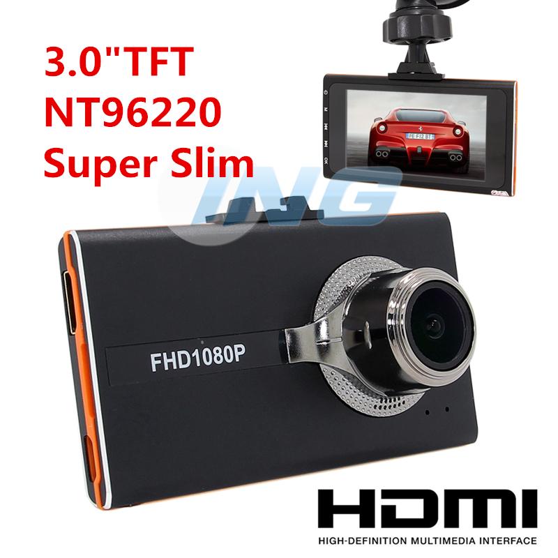 "Super Slim Car DVR Novatek 96220 1080P HD Car Recorder 3.0"" LCD 9712 Lens Dash Camera Motion Detection G-Sensor with HDMI Cable(China (Mainland))"