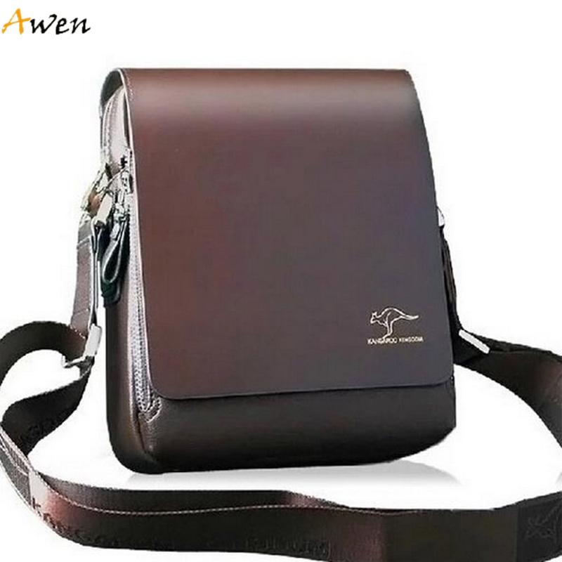 AWEN - Free Shipping Hot Sell Promotion Brand Kangaroo Men Messenger Bag,Vintage Casual Men Leather Bag,Classic Men Shoulder Bag(China (Mainland))