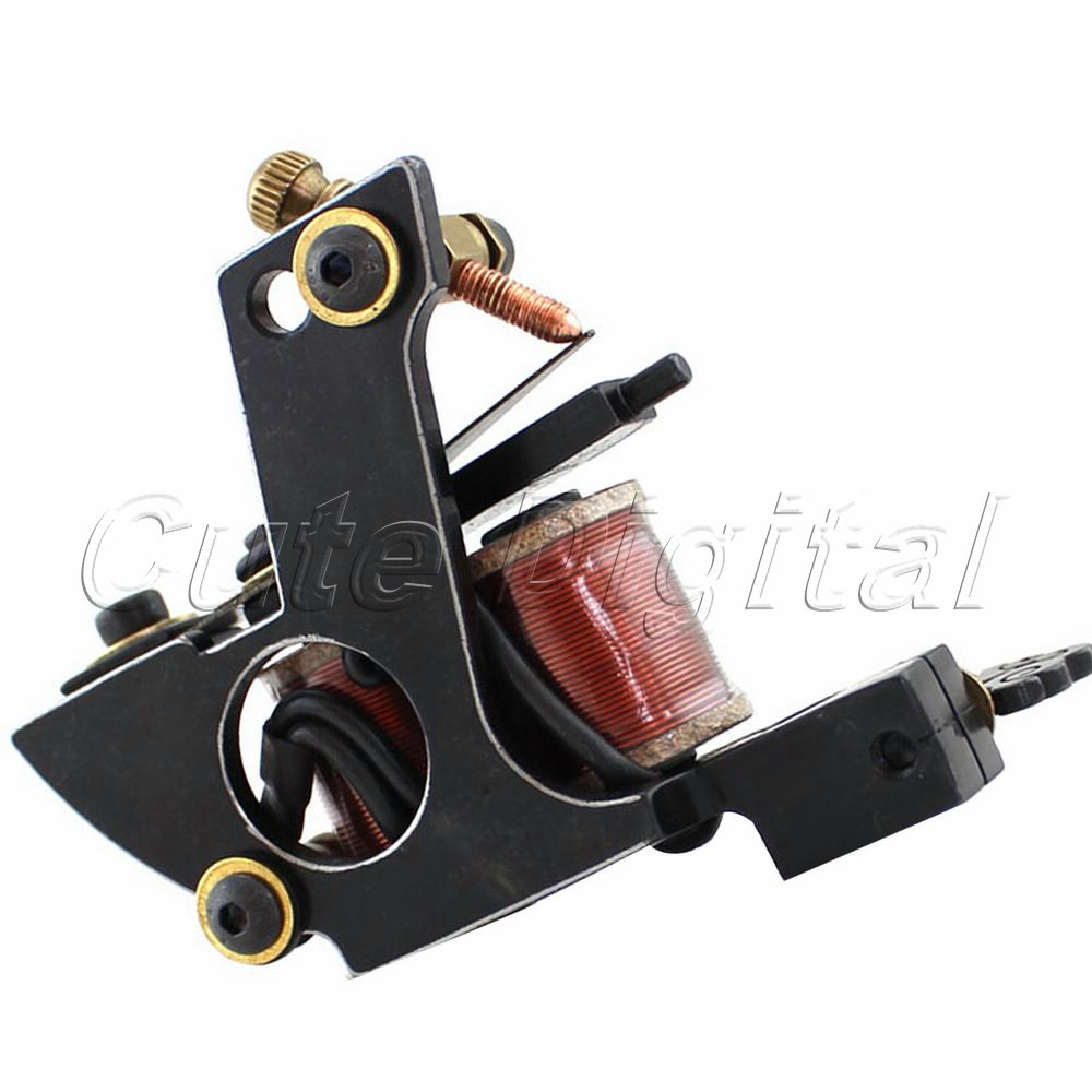 New Pro 10 Wraps Coil Tattoo Machine Gun by Handmade Cast Iron frame to shaper Liner Free Shipping(China (Mainland))