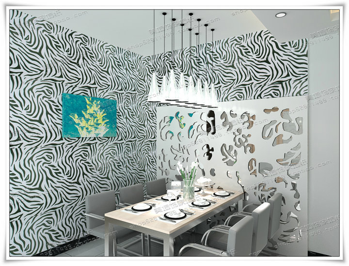 45cm Wide 5 Meter Zebra Stripe Print Wallpaper Self-Adhesive Paper Diy PVC Renovation Paper Home Decoration Furniture Sticker(China (Mainland))