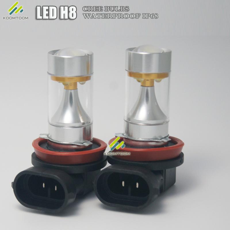 2*60W Car H8 Led Headlight Bulbs SMD Samsung 2323 750LM LED lamp H8 LED Fog Light Bulb Daytime Driving Light(China (Mainland))