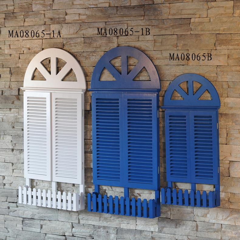 Mairui En creative, Mediterranean-style fake windows blocked decorative wall hangings emulation window shutters(China (Mainland))
