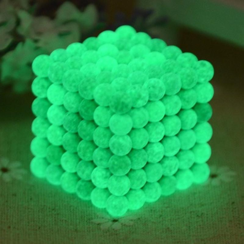 216pcs 5mm neodymium magnetic balls spheres beads magic cube magnets puzzle birthday present Luminous - vacuum package(China (Mainland))