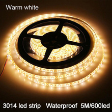 3014 SMD 100% Waterproof led strip 5M 600led DC12V flexible led lighting outdoor strip led warm/white/Red/Green/Blue(China (Mainland))