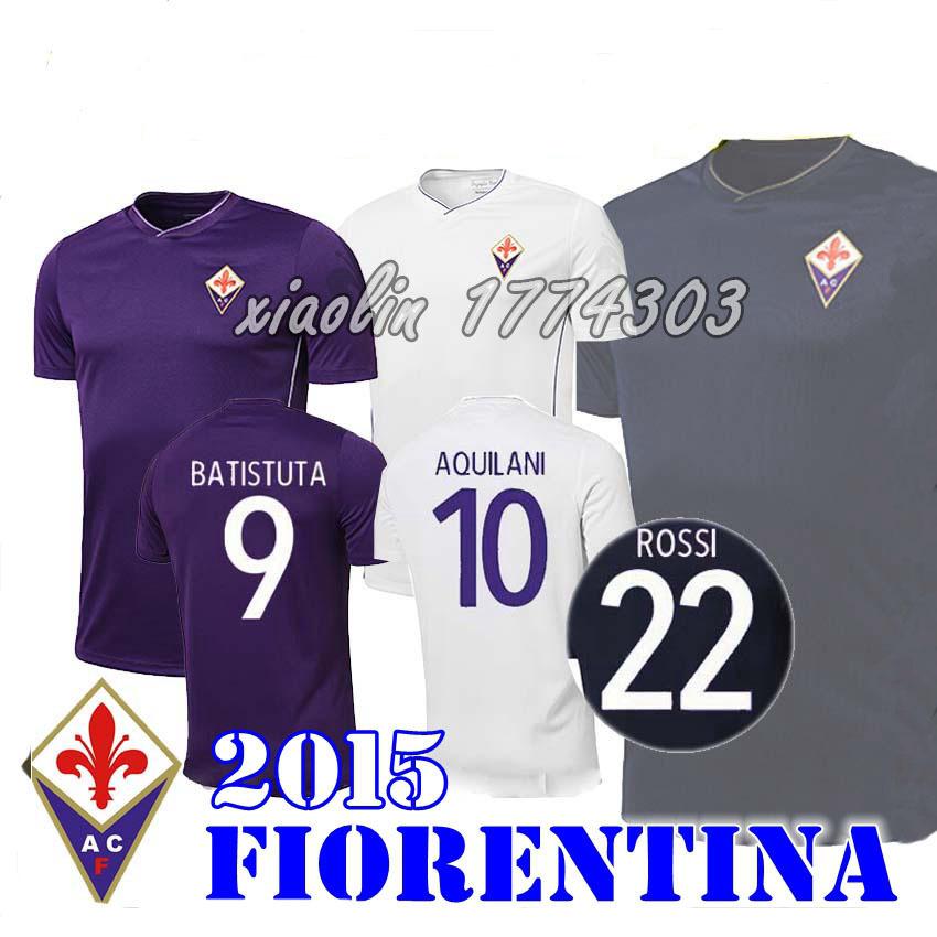 2015 2016 Fiorentina jersey 15 16 thai quality Florence soccer jerseys VARGAS BATISTUTA M.GOMEZ AQUILANI ROSSI JOAQUIN shirts(China (Mainland))