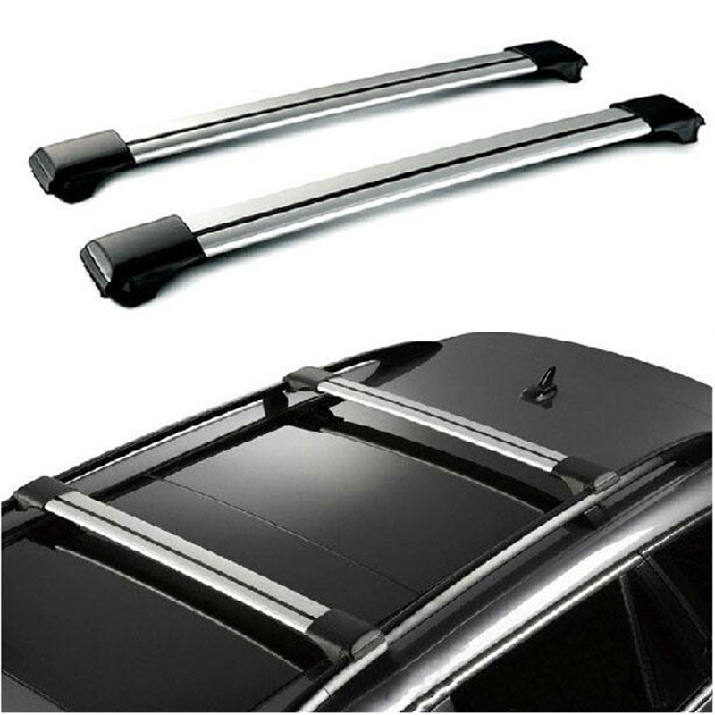 A Pair Silver Black Car 105~111cm 150LBS Roof Rack Cross Bar Top Luggage Cargo Lock System For Vehicles With Raised Side Rails(China (Mainland))