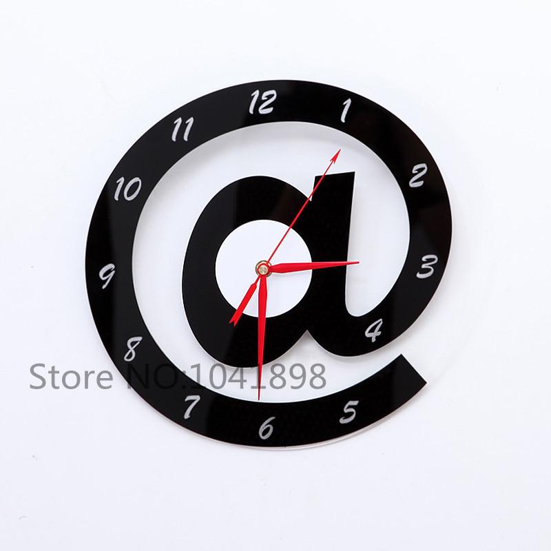 1PCS Art Three-dimensional Letters Clock Creative Wall Clock decoration Tool(China (Mainland))
