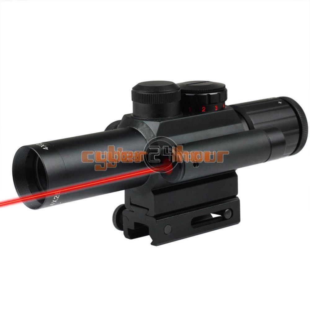 NewTactical 4X25 Red/Green Dot Sight Scope w/Red Laser w/11mm &amp; 20mm Rail Mount free shipping<br><br>Aliexpress