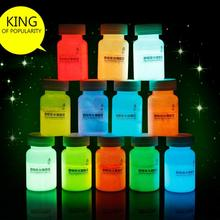 2015 12 Colors 20g Party DIY Graffiti Paint Luminous Acrylic Makeup Decor Pigment Glow # 78772(China (Mainland))