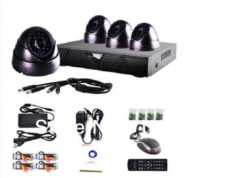 4 Channel CCTV Surveillance Security DVR Camera System, Home Security DVR Recorder System