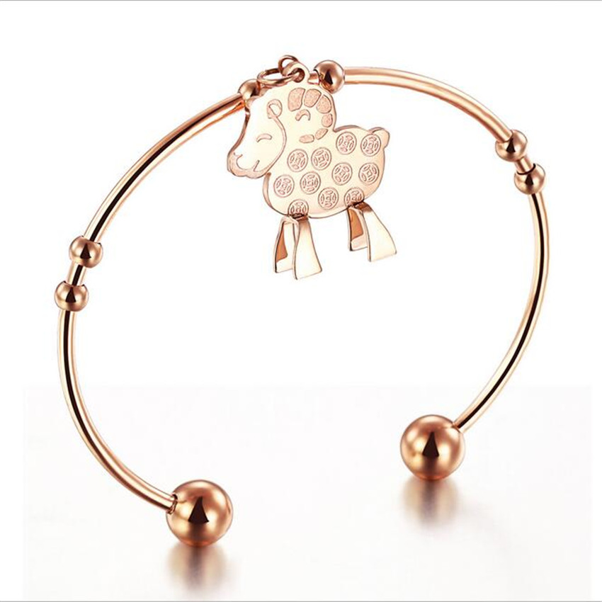IP Rose Gold Plating Zircon TitaniumJewelry Stainless Steel Bracelets Steel Bangle Never Fade Do Not Change Colors AL1046(China (Mainland))