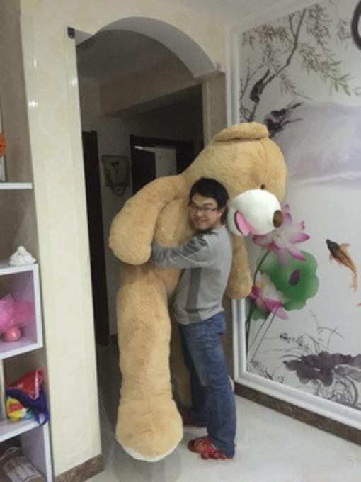 "Wholesale 200cm(78"") GIANT HUGE BIG BROWN TEDDY BEAR COVER/SHELL STUFFED ANIMAL PLUSH SOFT TOY(China (Mainland))"
