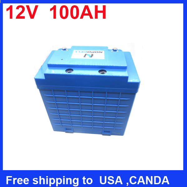 Free shipping 12V 100AH 26650 LiFePO4 Lithium 4S30P Battery pack for outdoor solar light,golf trolleys,semi-traction lawn mowers(China (Mainland))