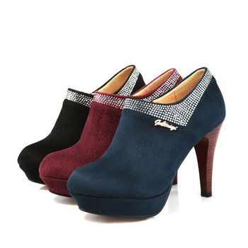 Осенние туфли женские на низком каблуке