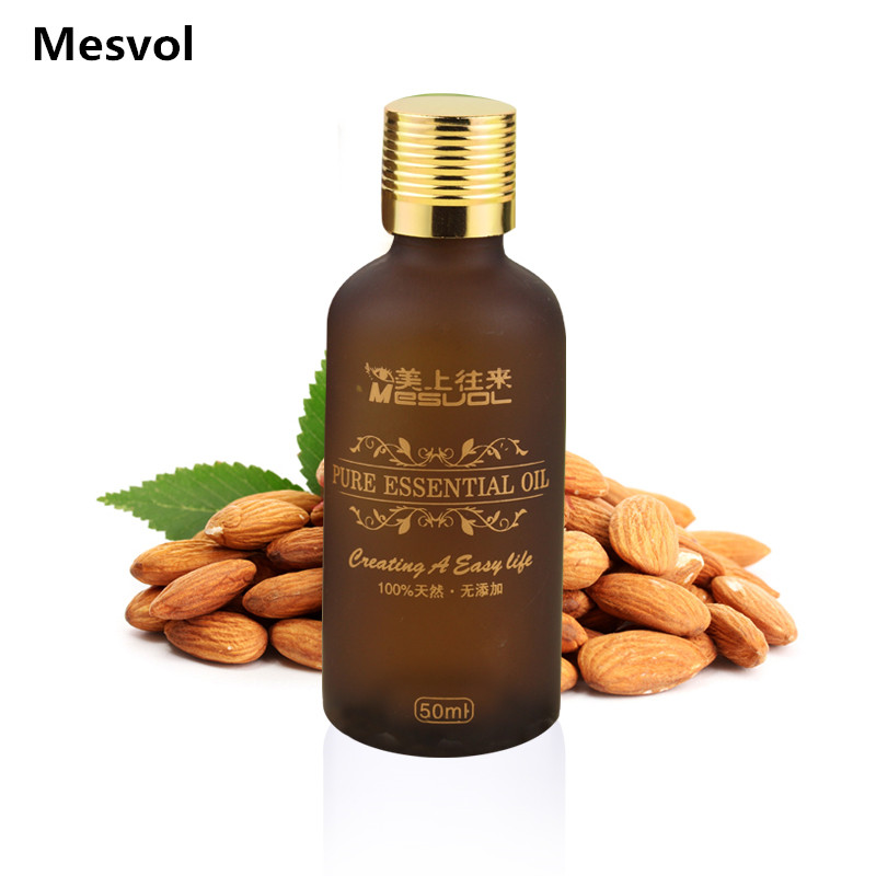 Sweet almond oil Carrier Oil 50ml moisturizing essential oil freckle the body massage base oil(China (Mainland))