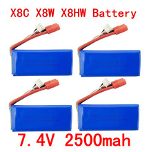 Buy BLL 4PCS New big battery Syma X8C X8W X8G X8HC X8HG X8HW 2S 7.4V 2500mAh 25C Lipo Battery Helicopter Battery for $40.00 in AliExpress store