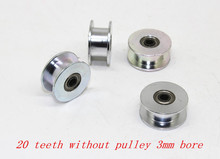 3D printer accessories 20 teeth synchronous wheel pulley wheel driven wheel Perlin 16 2GT toothed gear bore 3
