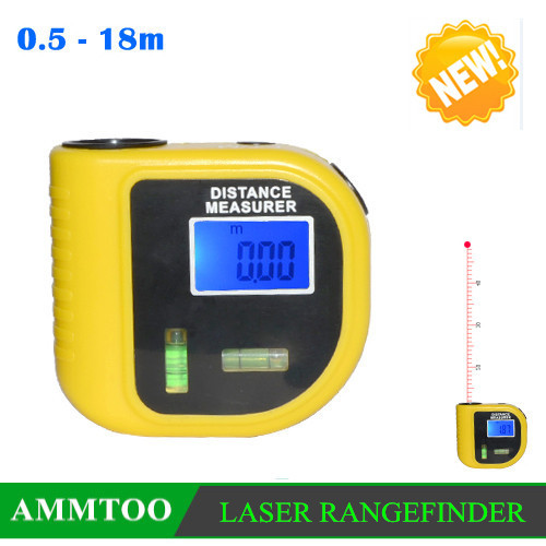 Ultrasonic Distance Measurer Meter Digital Laser Rangefinders Laser Designator With Level Bubbles Ruler W/Laser Pointer Puscard(China (Mainland))