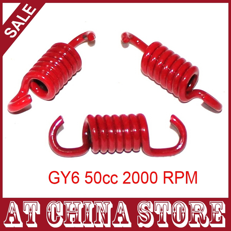 (3 pcs/set) 139QMA 139QMB Red 2000RPM 2000N High Performance Clutch Spring set for GY6 49cc 50cc Chinese Scooter Moped ATV<br><br>Aliexpress