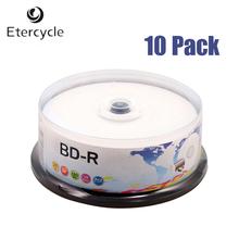 10 Pacote De Discos Bluray 25 GB 130 Min Velocidade full Printable BD-R 6x Blu-Ray Disc Em Branco(China (Mainland))