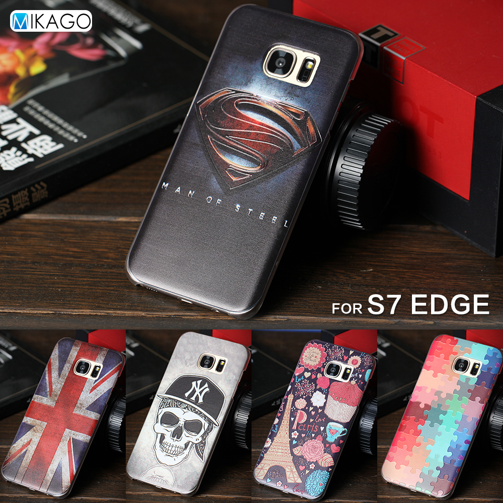 Relief Painted Pattern Hard case 5.5for Samsung Galaxy S7 Edge S7edge Case For Samsung Galaxy S7 Edge Cell Phone Back Cover Case(China (Mainland))