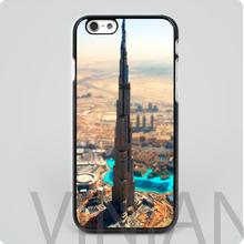 Dubai City Burj Khalifa black hard skin mobile phone cases cover housing for iphone 4 4s 5 5s 5c 6 6 plus free shipping(China (Mainland))