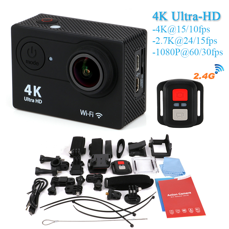 New arrival EKEN H9R 4K WiFi Action camera with 2.4G Remote Control Ultra HD 2.0 inch Helmet Cam go waterproof pro sports camera(China (Mainland))