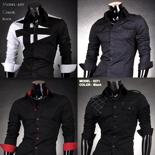 Hot 2015 Mens Fashion Cotton Designer Cross Line Slim Fit