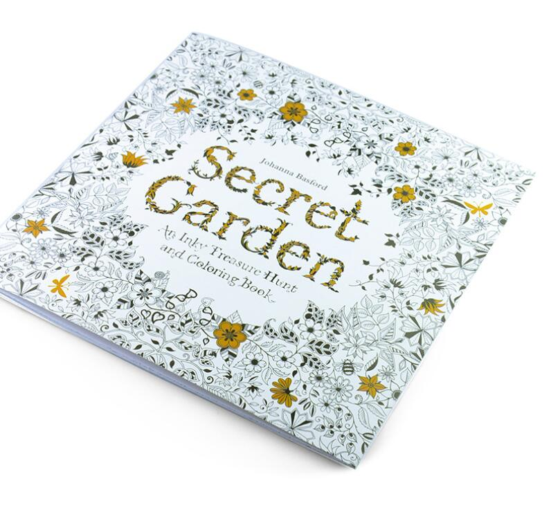 24 Pages Drawing Book Secret Garden English Edition Coloring Book For Childs Adult Relieve Stress Kill Time Painting(China (Mainland))