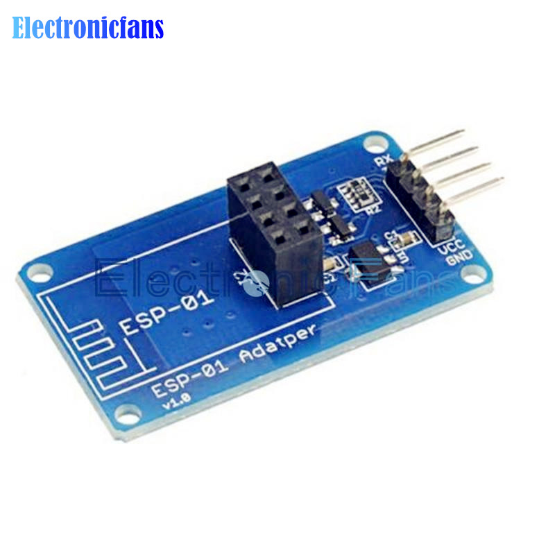 Free Shipping ESP8266 ESP-01 Serial WiFi Wireless Adapter Module 3.3V 5V Esp01 Breakout PCB Adapters Compatible For Arduino(China (Mainland))