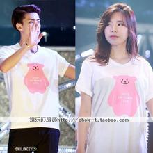 2015 Summer SMTOWN LIVE girlhood allow children around the same paragraph EXO Chan strong short-sleeved T-shirt dress hit song