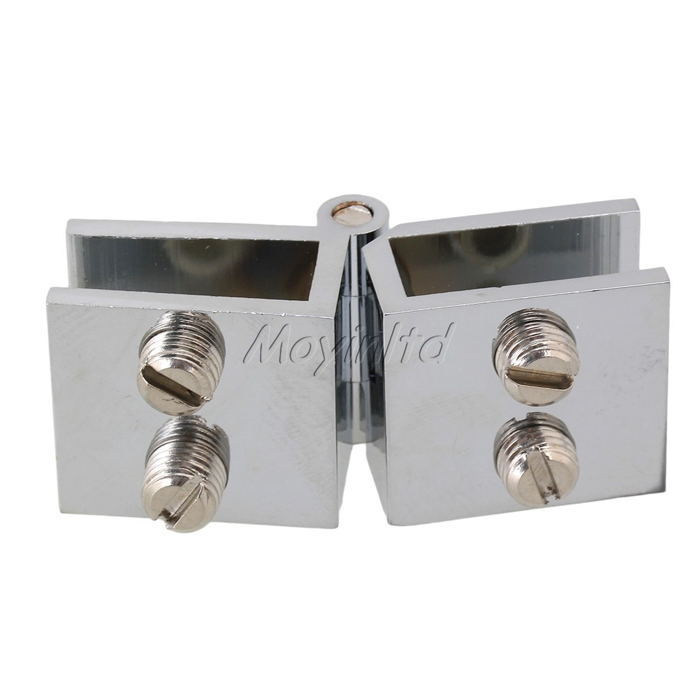 Glass Door Clamp Hinge Double Action 180 Degree for Boarded Door(China (Mainland))