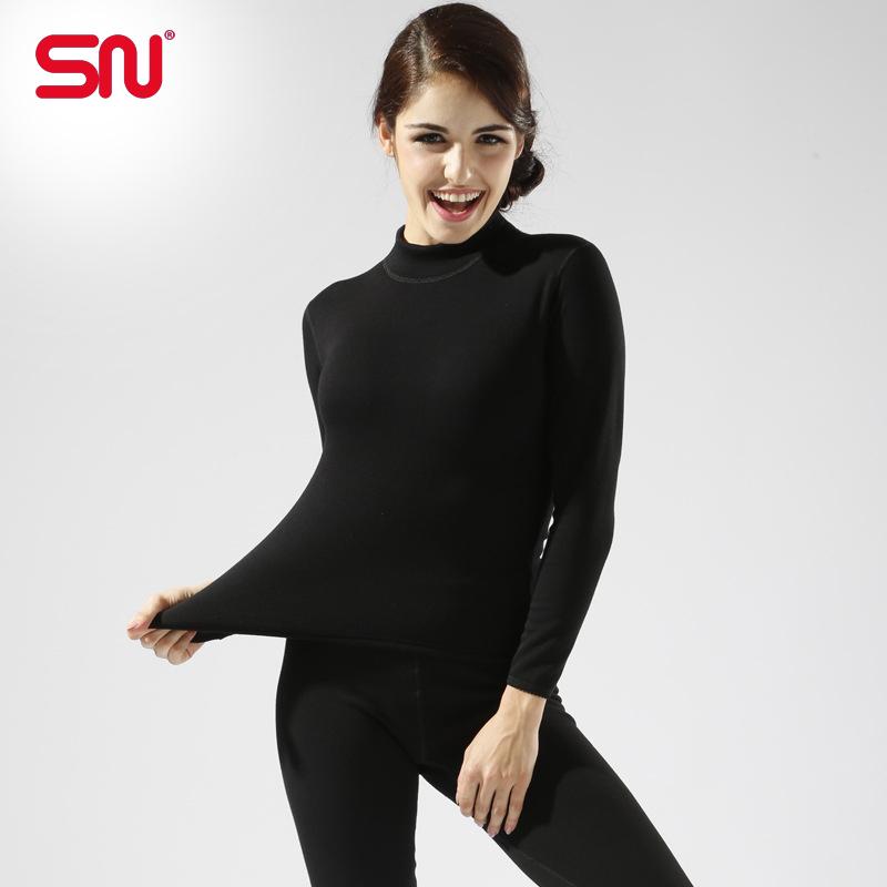 Plus Size M-XXL Women winter thermal underwear suit thick velvet ladies thermal underwear women clothing female long johns YP70(China (Mainland))
