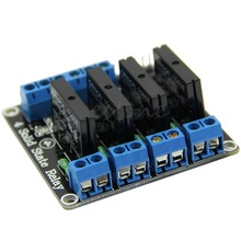 F85 Free Shipping 5V 4 Channel OMRON SSR High Level Solid State Relay Module For Arduino 250V2A