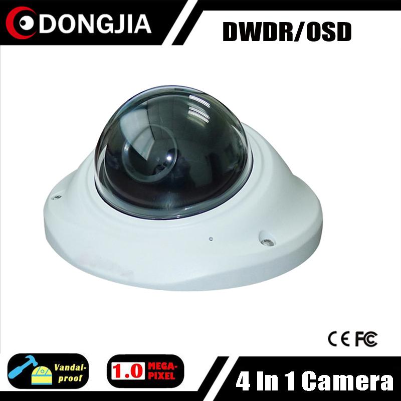 DONGJIA DJ-TCA1034 Vandal-proof Indoor Mini Dome AHD HDCVI HDTVI CVBS Analogue CCTV Camera 720P 1 Megapixel 2.8mm Lens CCTV(China (Mainland))