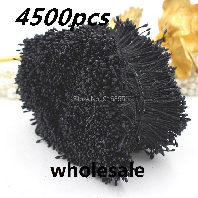 Оптовая 1мм 4500pcs/lot черный жемчуг цветок тычинка цветочная тычинка пестик торта/свадебные украшения ремесла Сделай сам
