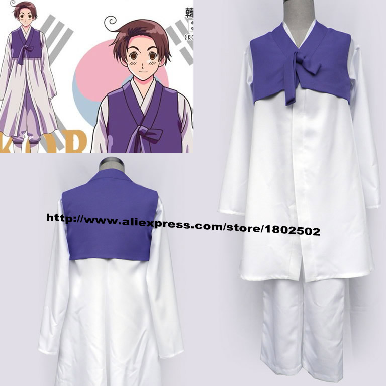 Axis Powers Hetalia Republic Korea Im Yong Soo Anime Cosplay Costume - The clouds anime store