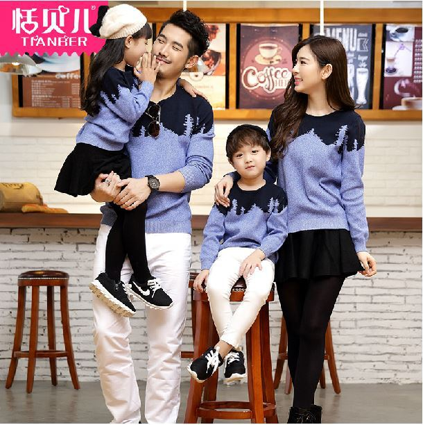 2015-family-set-clothes-for-father-mother-and-son-family-sweatshirts-family-clothes-matching-outfit-father Father and Son Matching Outfits-20 Coolest Matching Outfits